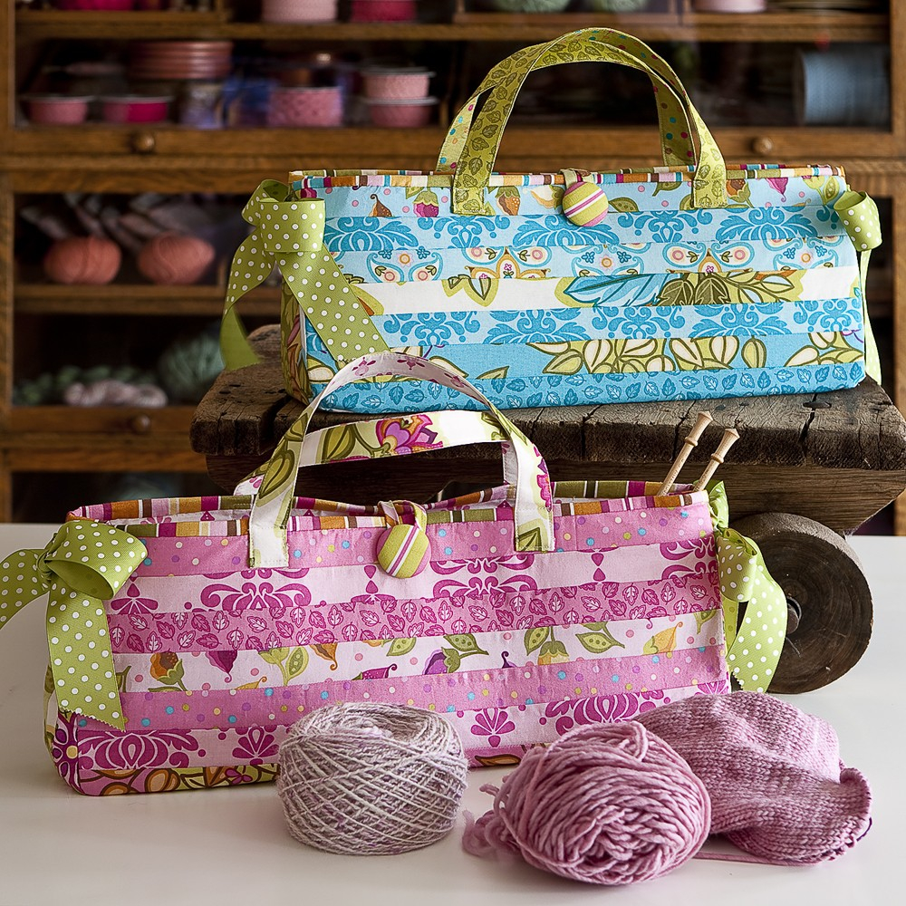 Knitting Bag Sewing Pattern Projects Carry Me Bag ...